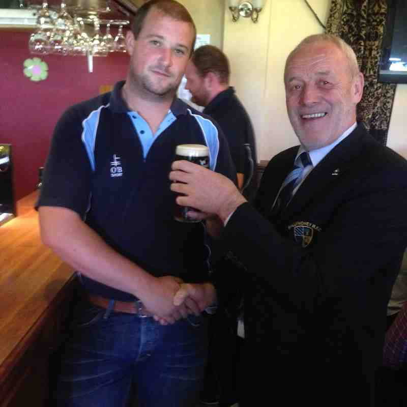1st XV Man of the Match Award
