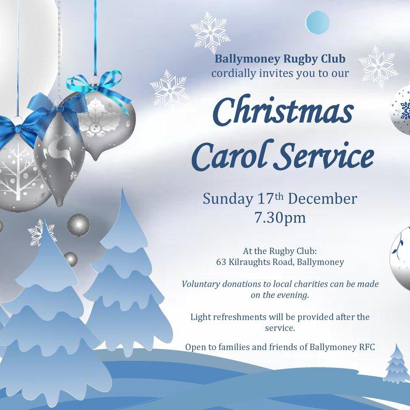 Ballymoney RFC Carol Service