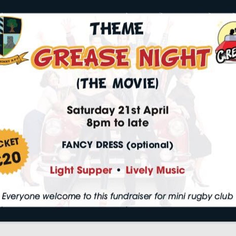 Themed GREASE Night - Saturday 21st April