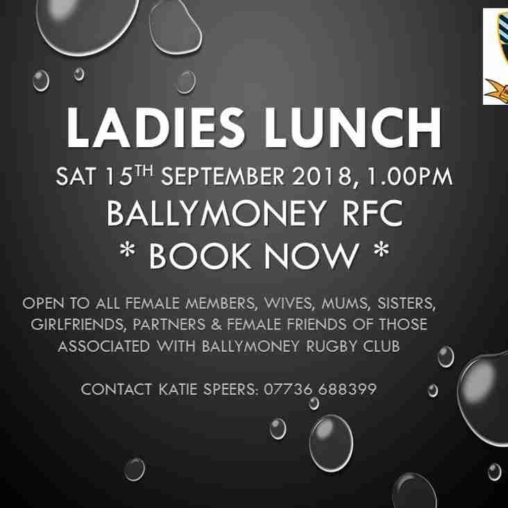Ladies Lunch - Sat 15th September