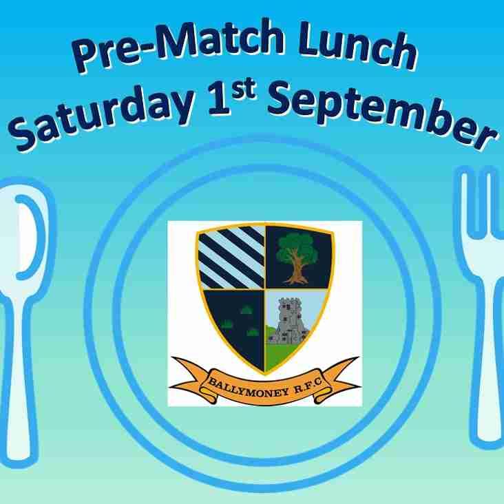 Pre-Match Lunch - Sat 1st September