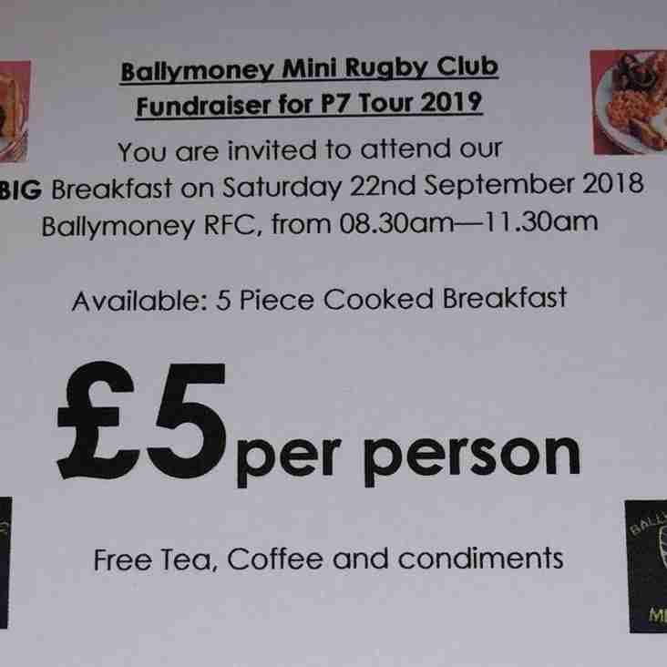 Mini Rugby BIG Breakfast - Sat 22nd September