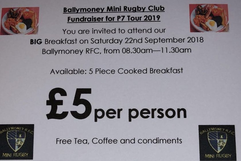 Mini Rugby BIG Breakfast - Sat 22nd September