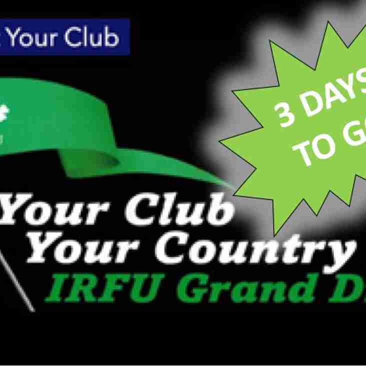 3 DAYS TO GO - Your Club Your Country 2018