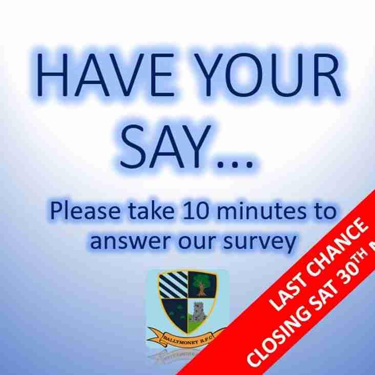 Club Survey - Closing Soon