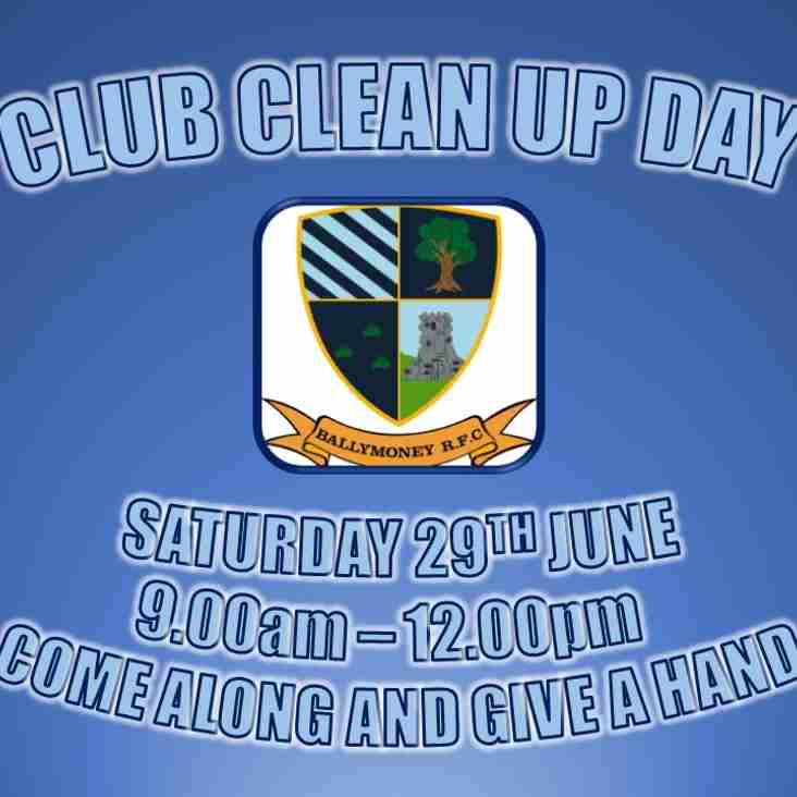 Club Clean Up Day - Saturday 29th June