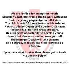 U14's Manager Position