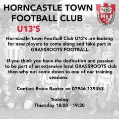 U13's New Players Wanted