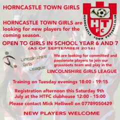 HORNCASTLE TOWN GIRLS ARE LOOKING FOR NEW PLAYERS FOR THE COMING SEASON
