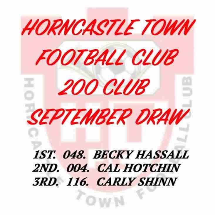 200 CLUB DRAW (SEPTEMBER 2016)