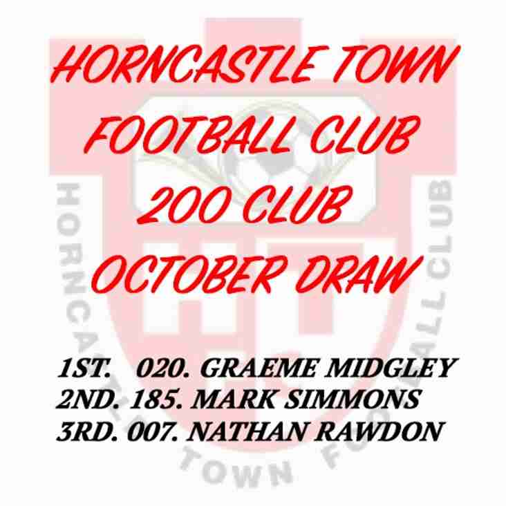 200 CLUB DRAW (OCTOBER 2016)