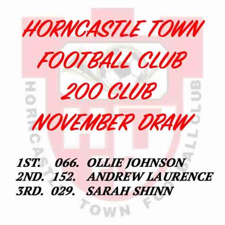 200 CLUB DRAW (NOVEMBER 2016)