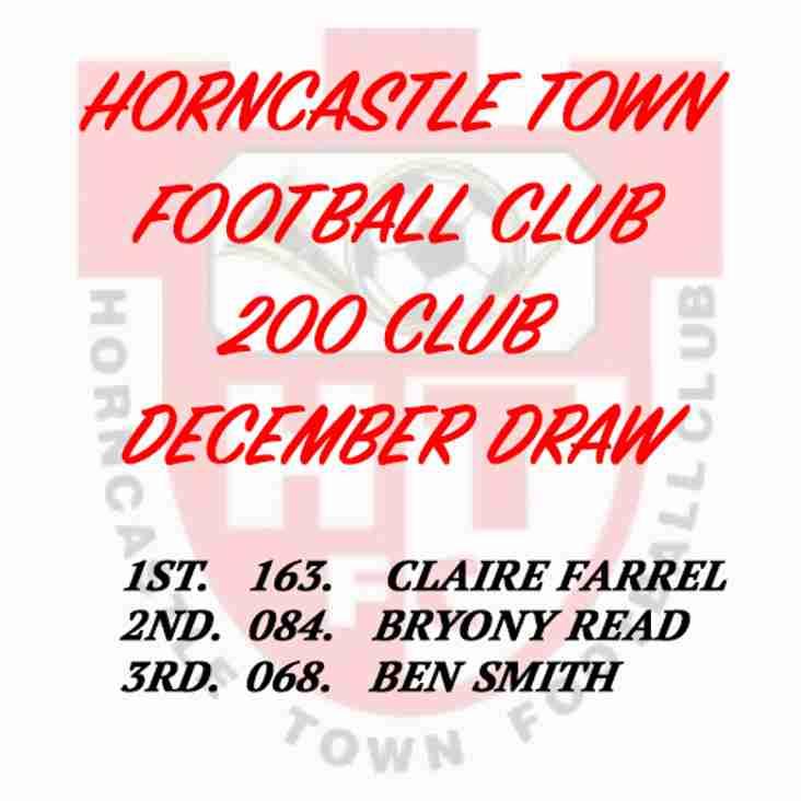 200 CLUB DRAW (DECEMBER 2016)