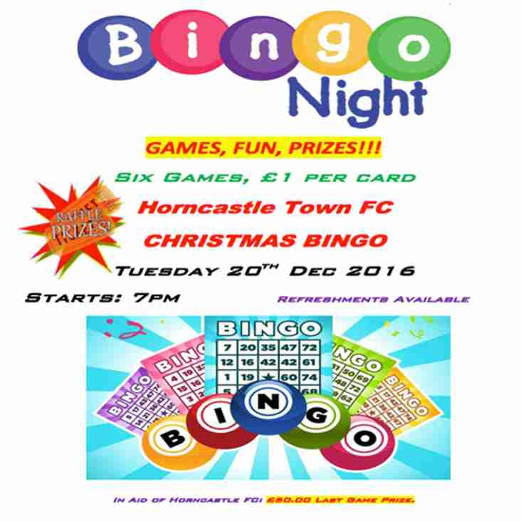 HORNCASTLE TOWN FC CHRISTMAS BINGO NIGHT