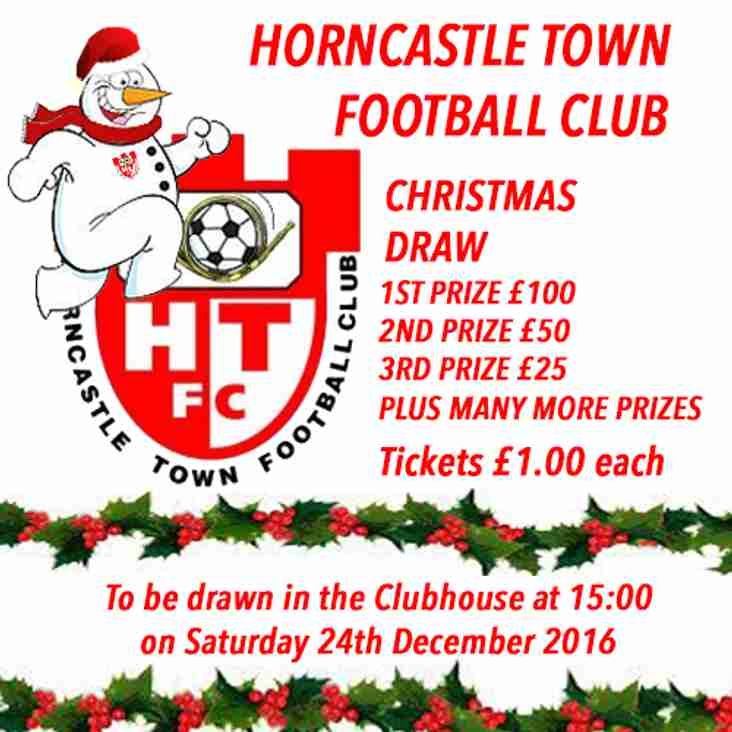 HORNCASTLE TOWN FC CHRISTMAS DRAW