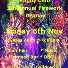 Firework Night - Friday 6th November