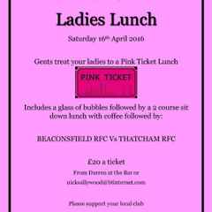 Ladies Day 2016 - Booking Now Open!!