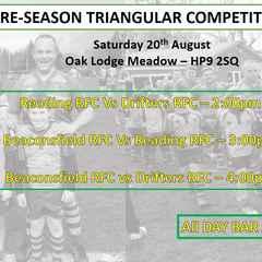 Pre-Season Matches Begins - Saturday 20th August