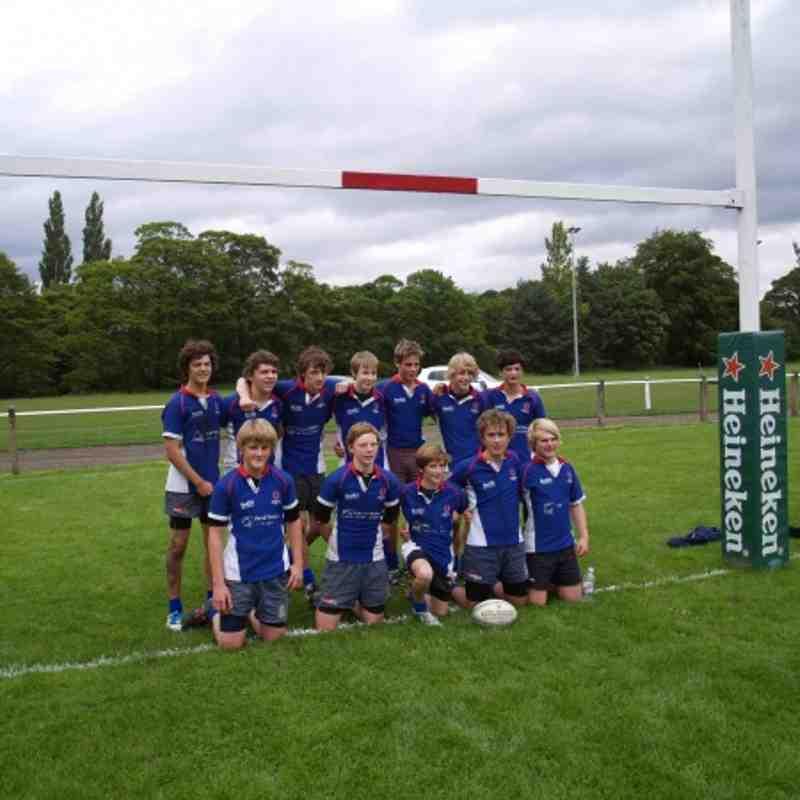 DMPRFC U15's Blaydon 7's Winners