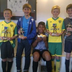 U12 Whites 2013/2014 trophy winners