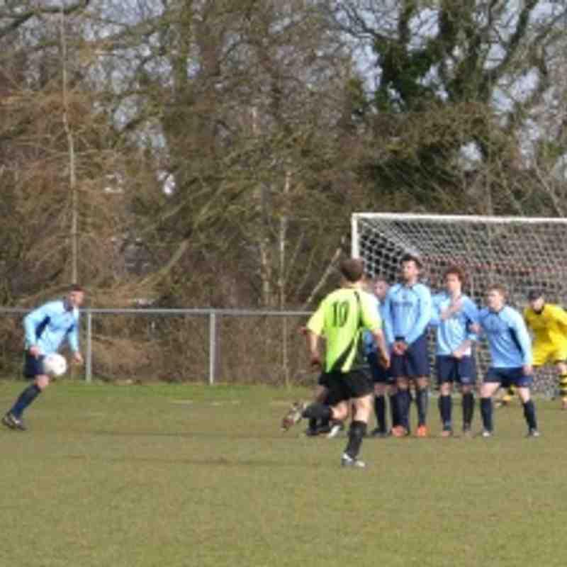 First Team v Overton 2/3/13