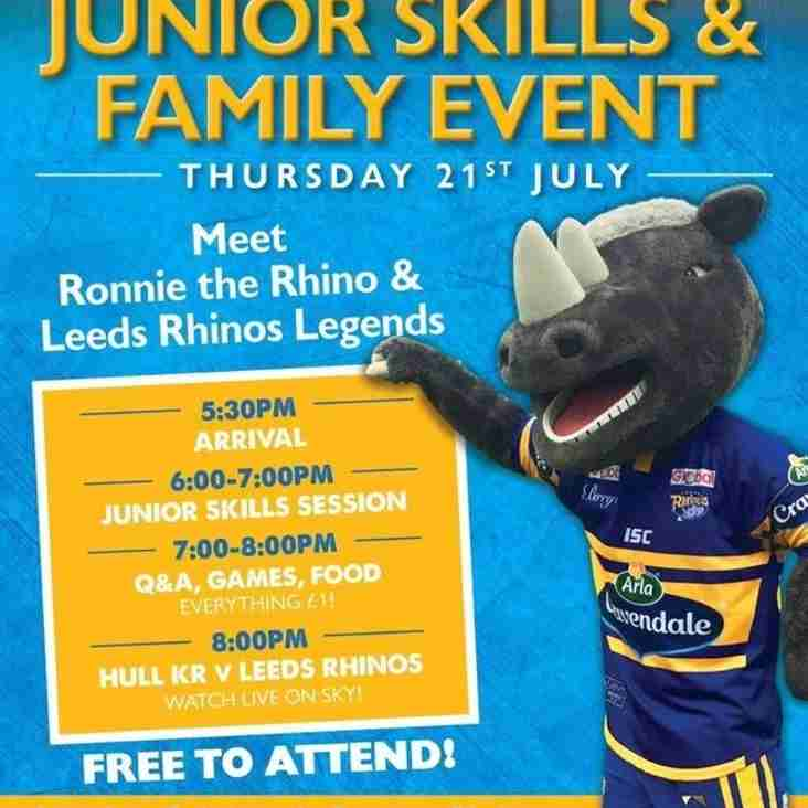 LS27 Spartans Rugby League Academy Junior Skills & Family Event