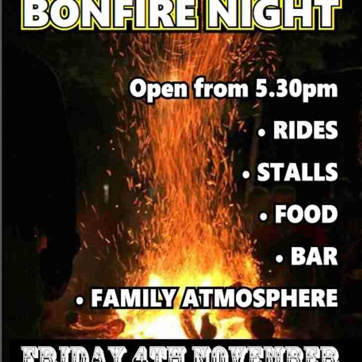 Morley CC 2016 Bonfire Night - Friday 4th November....