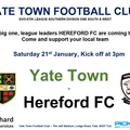 Yate Town vs Hereford FC - 21st January 2017