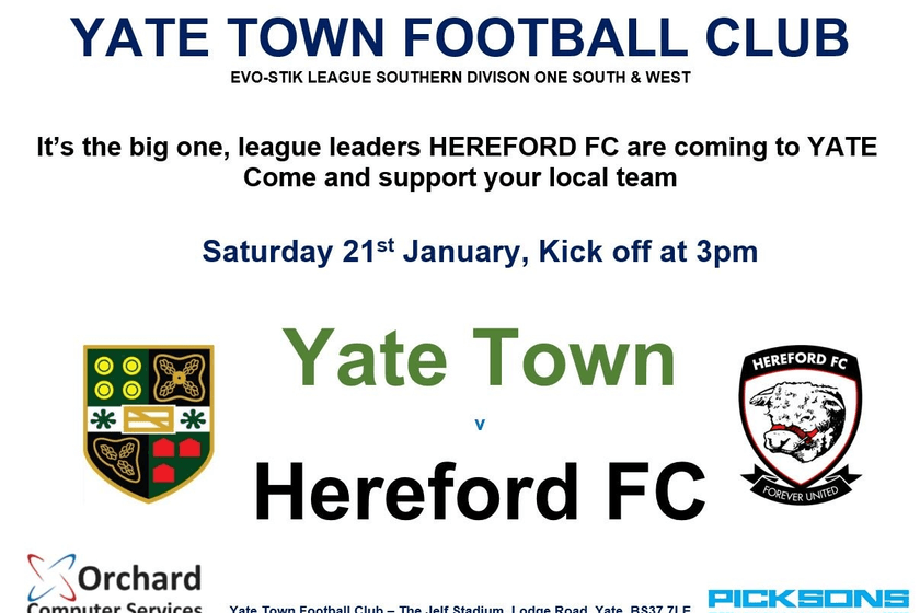 Hereford FC Matchday Information