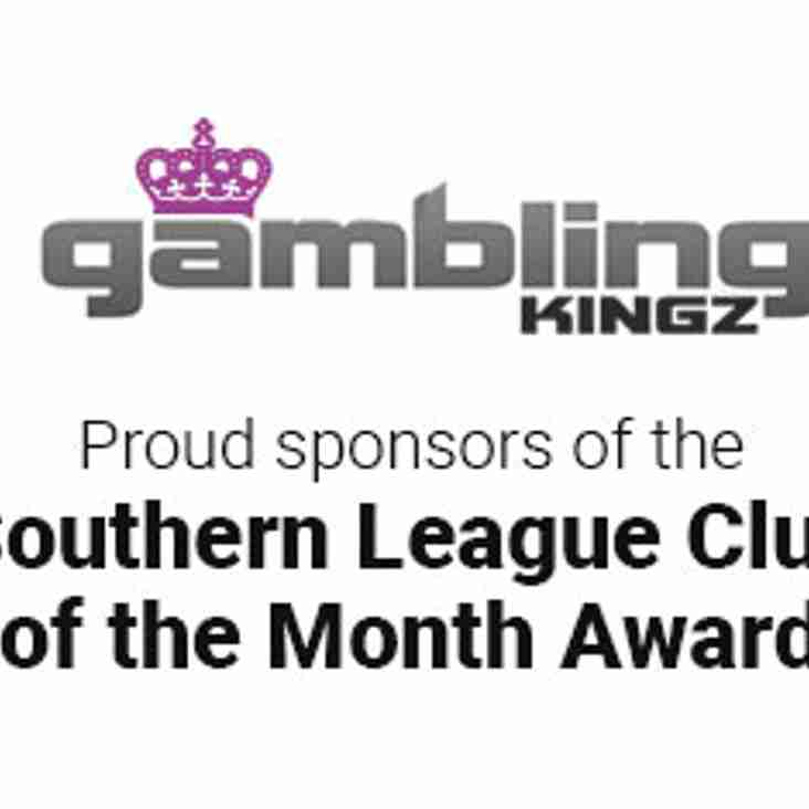 New Club Of The Month Sponsor
