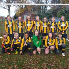 Tornadoes U14 Girls Team Photo Nov 2016