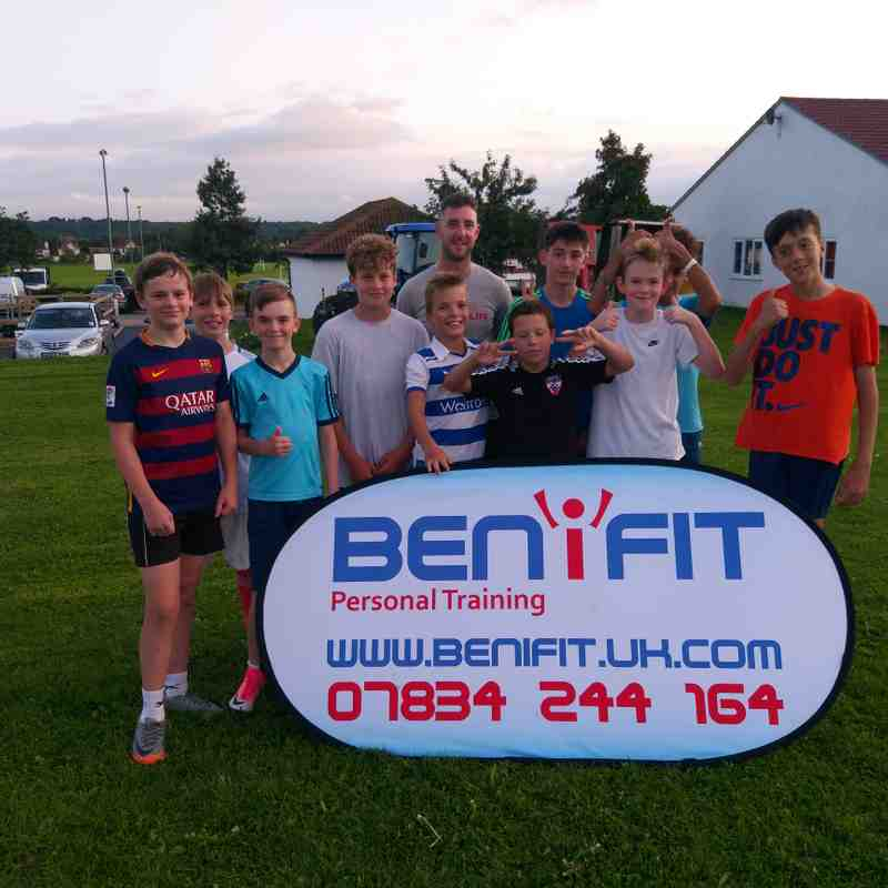 U13 Black Team get put through their paces by BENiFIT