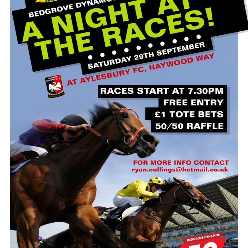 JOIN US FOR A NIGHT AT THE RACES