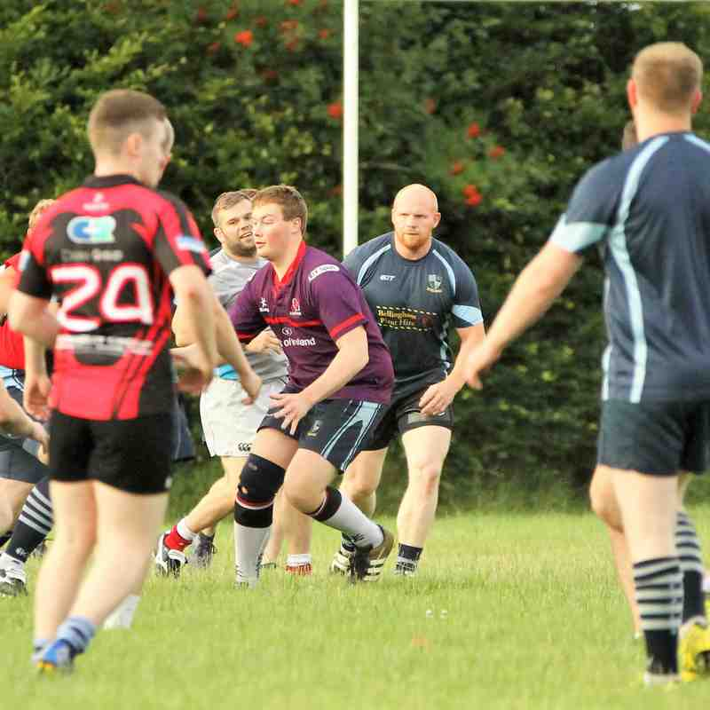 Super squad turnout, as Ballymoney RFC return to full training, ahead of the new season.