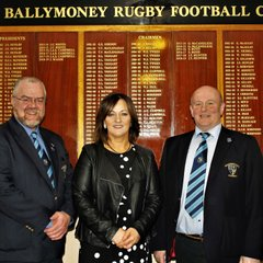 Match Day Sponsors greeted by Club President, John Waide and Club Chairman, John Hunter.