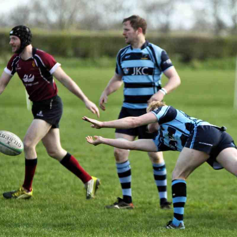 Ballymoney RFC 1st XV v Academy RFC 1st XV, KQ2, Sat 30 March 2019. Photos by Uel McDowell