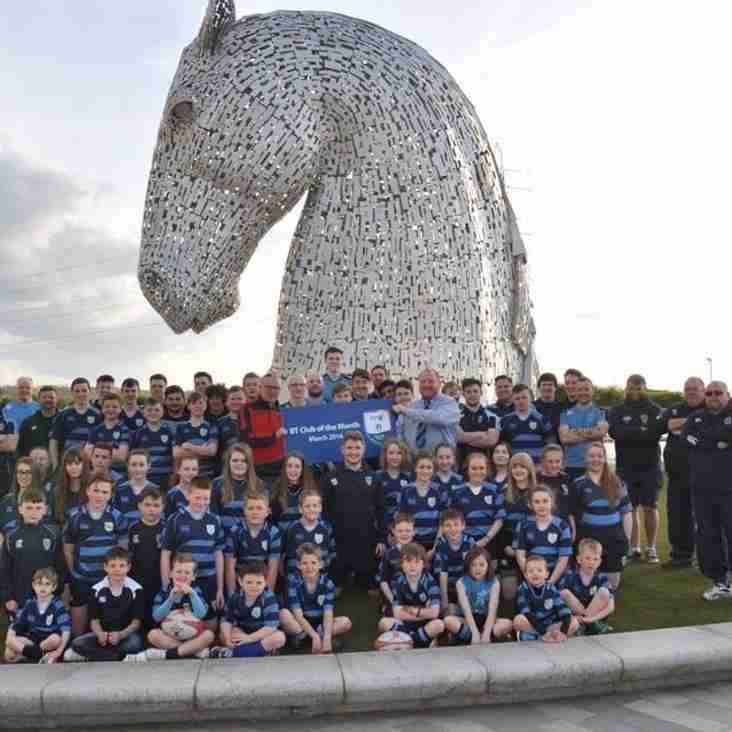 Falkirk win SRU Club of the month for March