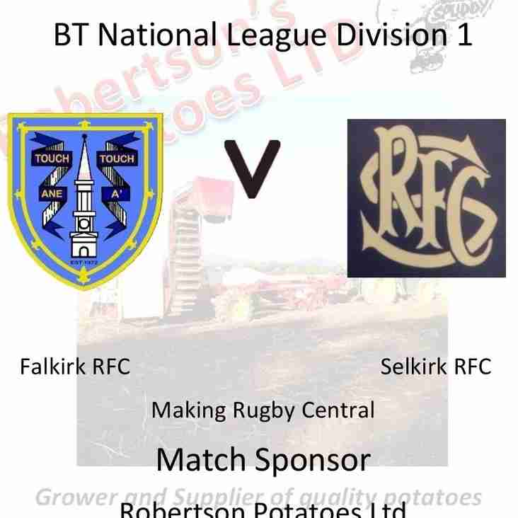 Falkirk v Selkirk 24th September 3pm ko