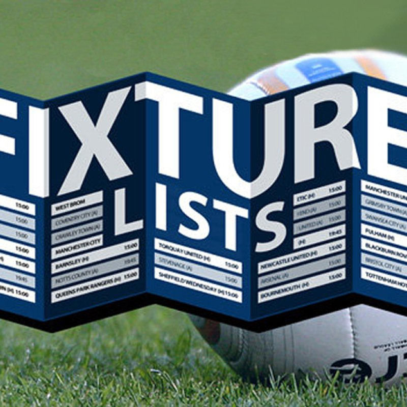 New Fixtures Now Up!