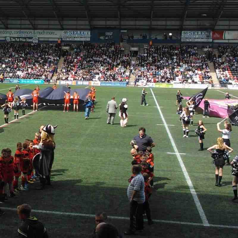 West Bank U13's Flag Bearers Widnes Vikings v Huddersfield Giants