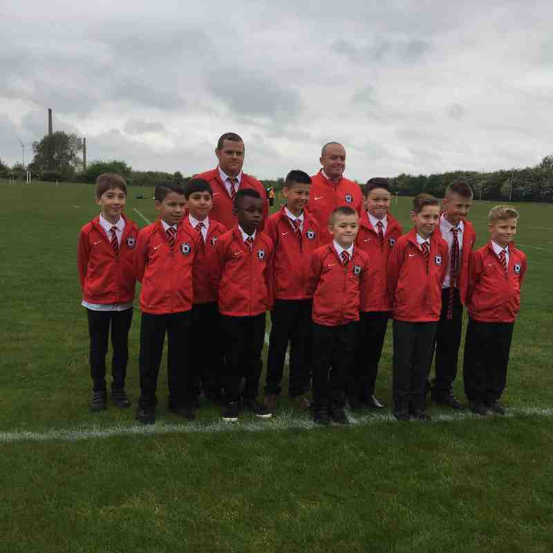 U10 red Hereward cup champions