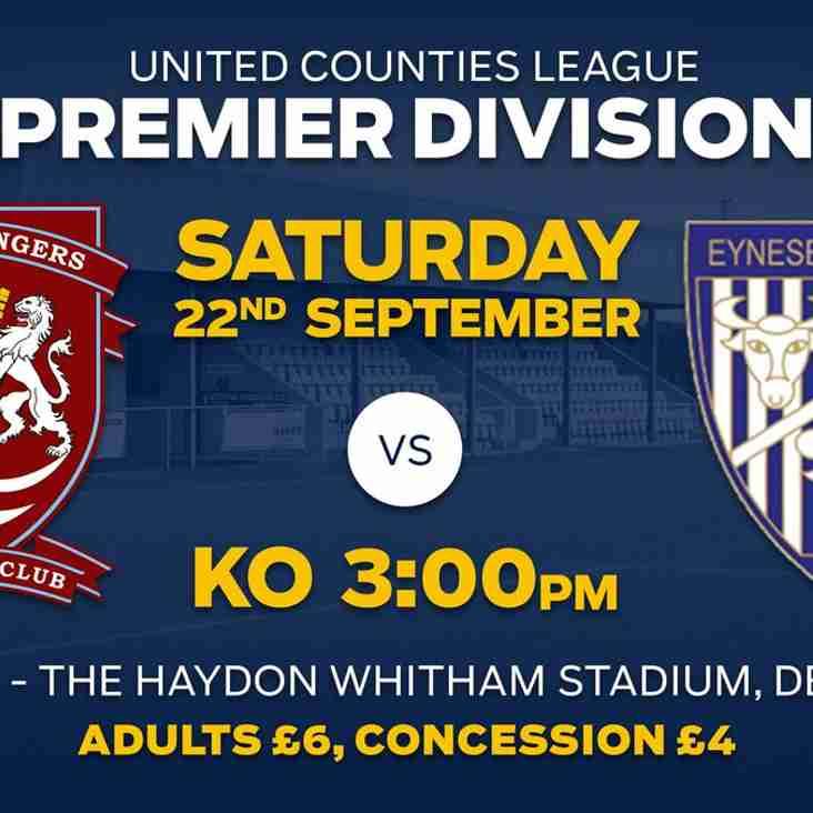 Eynesbury Rovers next at the Haydon Whitham Stadium on Saturday