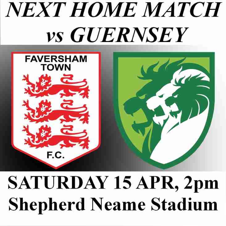 GUERNSEY HOME MATCH EARLY KICK-OFF