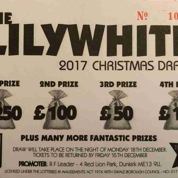 CHRISTMAS DRAW DEADLINE APPROACHES