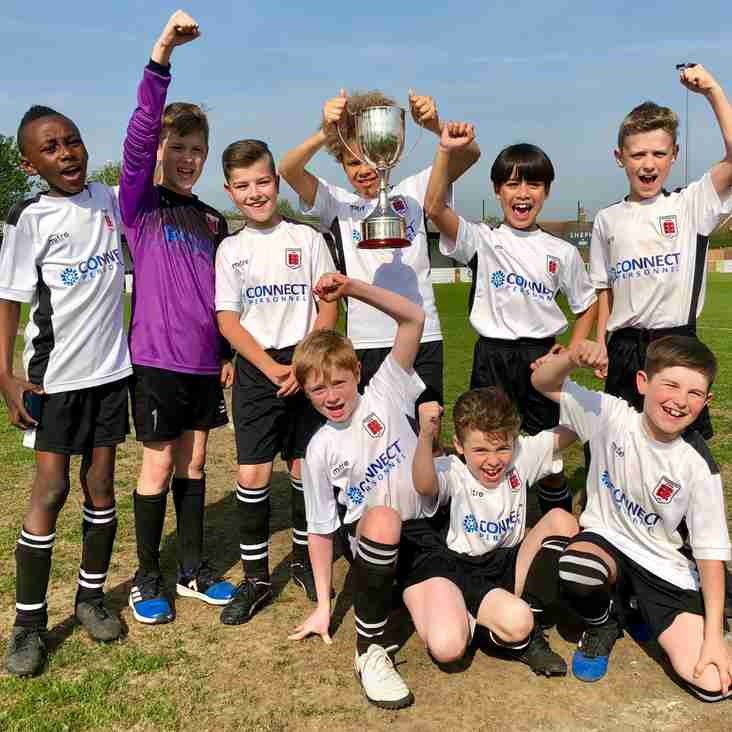 TOWN BOYS CELEBRATE CUP TREBLE