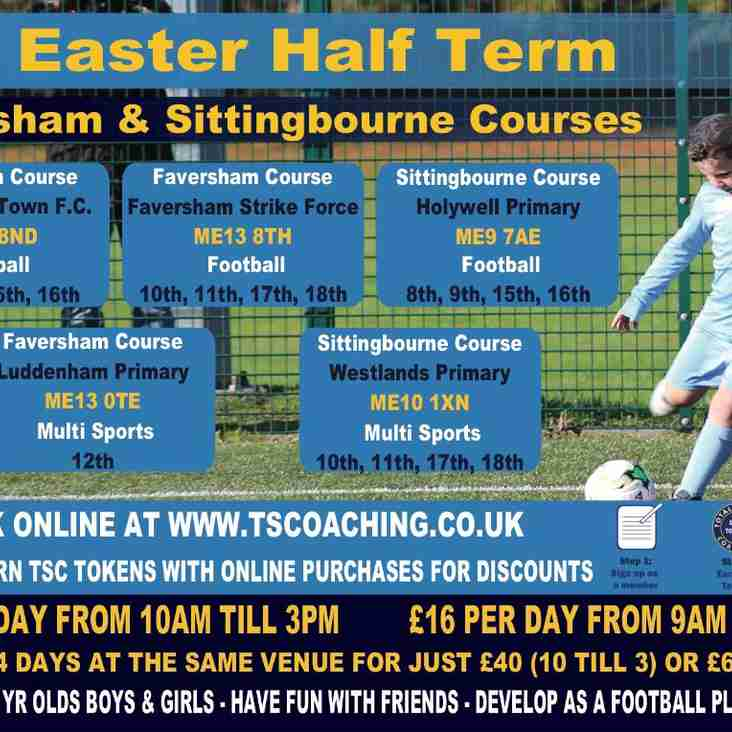 EASTER COACHING DAYS FOR KIDS