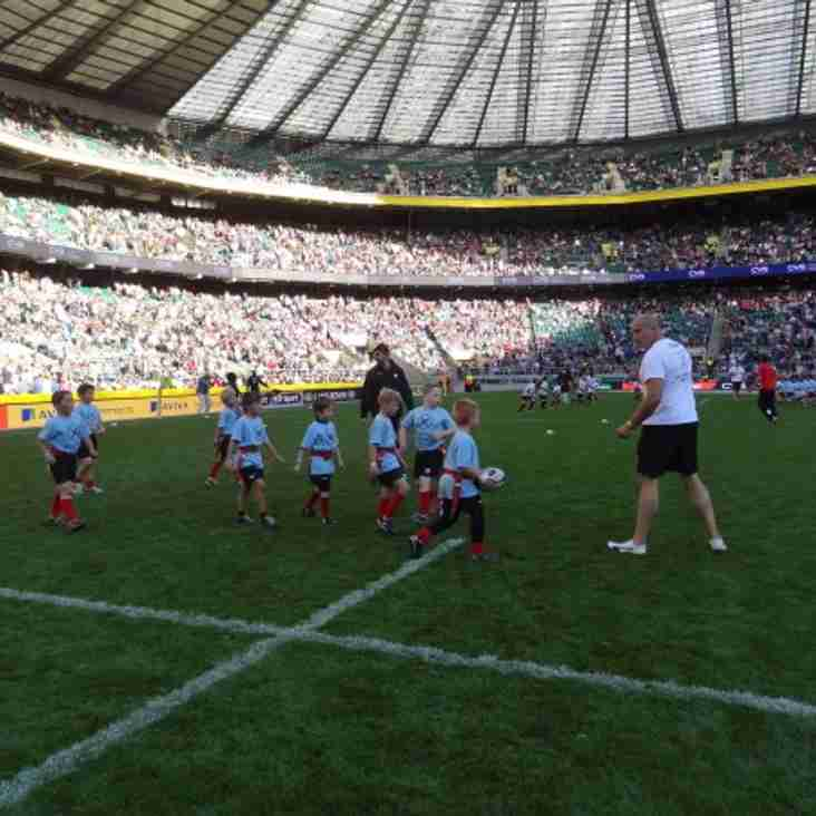 The Under 8 Team plays at Twickenham