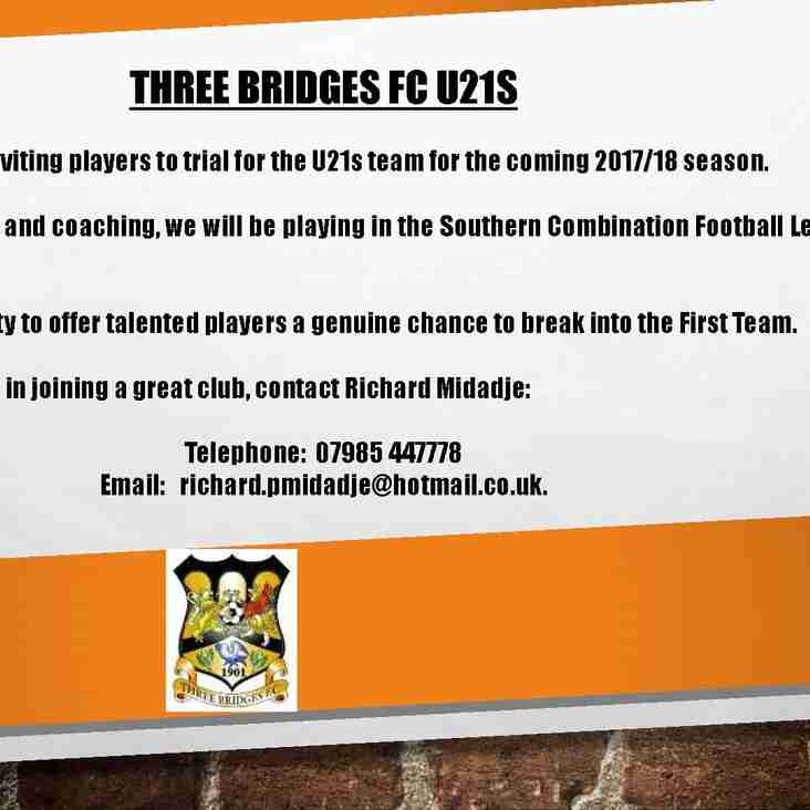 U21s Recruitment