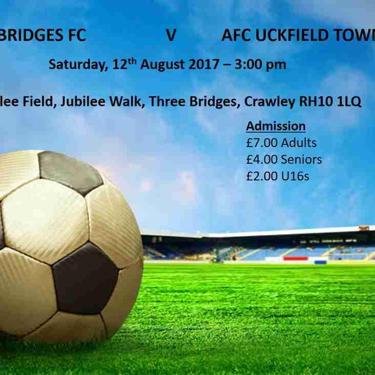Three Bridges v AFC Uckfield Town - 12th August 2017