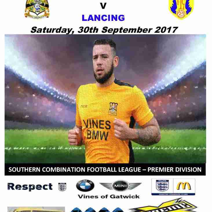 Three Bridges v Lancing - 30 September